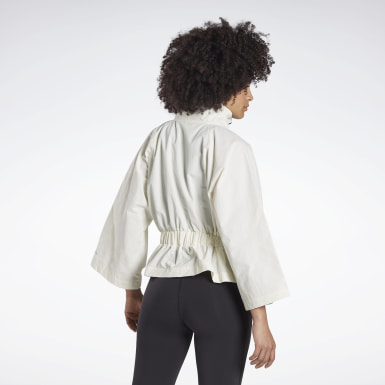 Women Fitness & Training White Reebok x ba&sh Roonie Woven Jacket