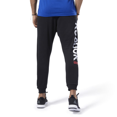 Heren Fitness & Training Zwart Training Essentials Logo Joggingbroek