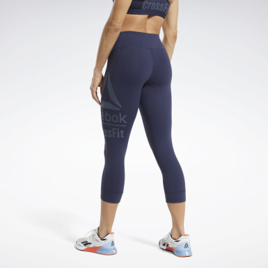 Women Training Blue Reebok CrossFit® Lux 3/4 Length Leggings