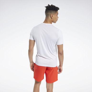 Men HIIT White Workout Ready ACTIVCHILL Tee