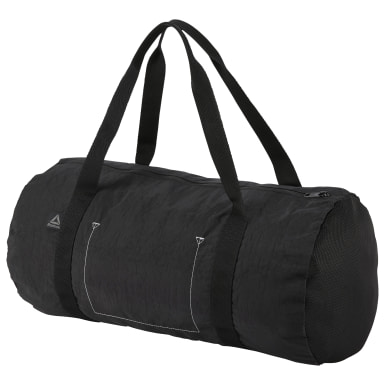 Women Fitness & Training Black Foundation Cylinder Bag