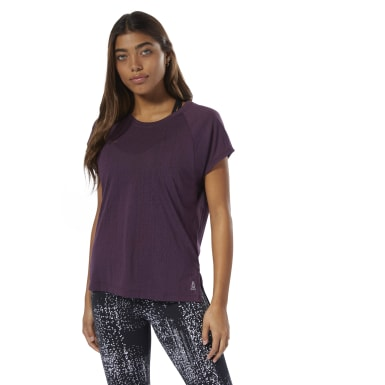 Women Fitness & Training Purple Burnout Tee