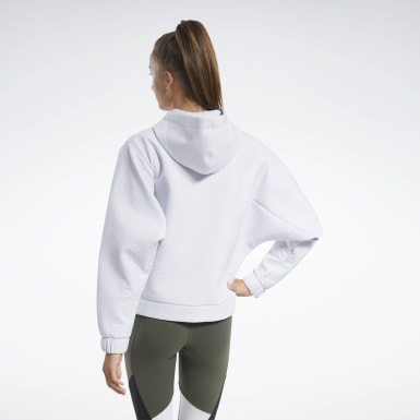 Women Hiking White Edgeworks Hoodie