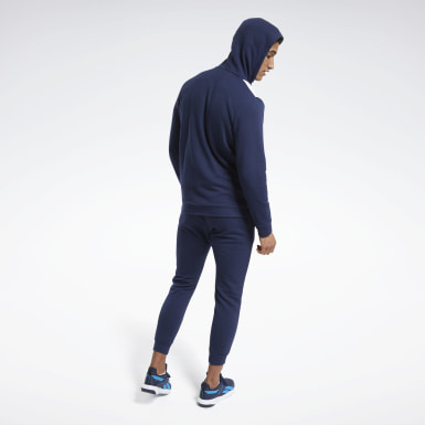 Men Fitness & Training Blue Training Essentials Linear Logo Tracksuit