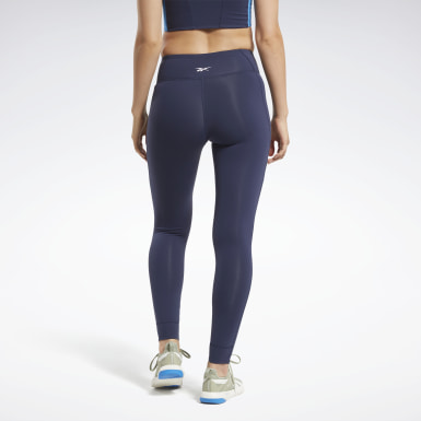 Women Cycling Blue Reebok Lux 2 Leggings
