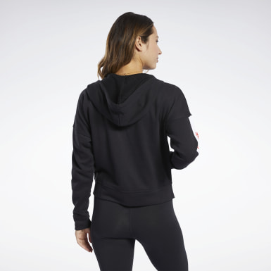 Women Fitness & Training Black Training Essentials Linear Logo Hoodie