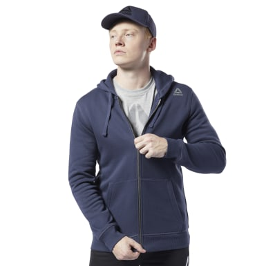 синий Худи Elements Fleece Full-Zip