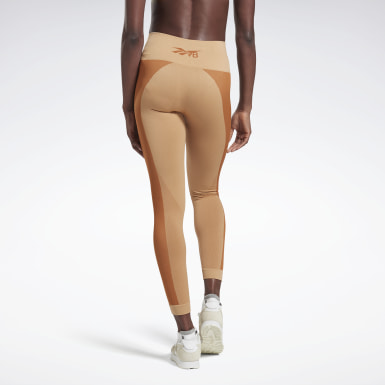 Women Yoga Beige VB Seamless Tights