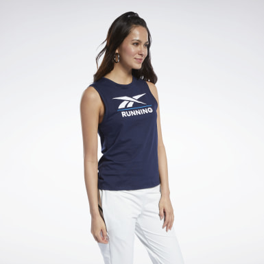 Camiseta sin mangas Reebok Specialized Running Azul Mujer Cross Training