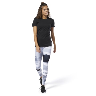T-shirt Crew Nero Donna Fitness & Training