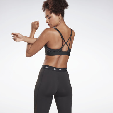 Kvinder Studio Black Reebok Hero Medium-Impact Strappy Bra