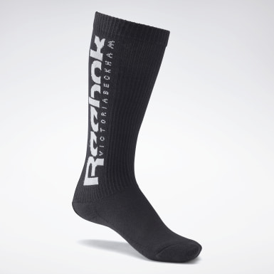 Women Classics Black VB Basketball Socks