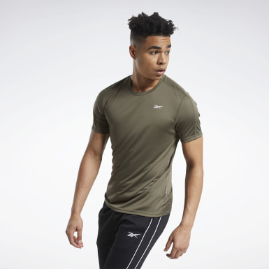 Mænd Yoga Green Workout Ready Polyester Tech Tee