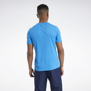 Men Training Blue Tee