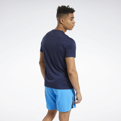 WOR POLY GRAPHIC SS TEE Azul Hombre Fitness & Training