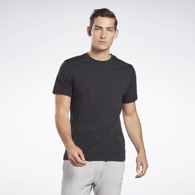 GB M SS COTTON T VCTR Noir Hommes Fitness & Training