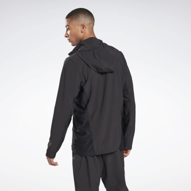 Men Terrengløping Black Run Track Jacket