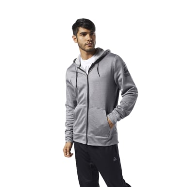 серый Худи Workout Ready Full-Zip Thermowarm