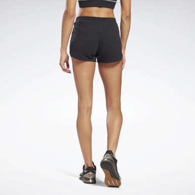 Women Training Black Reebok Identity French Terry Shorts