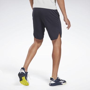 Men Fitness & Training Blue Workout Ready Mélange Shorts
