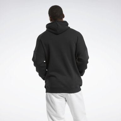 Men Outdoor Black MYT Fleece Hoodie