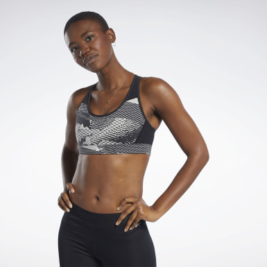 Women Fitness & Training Beige Reebok Hero Medium-Impact Racer Bra