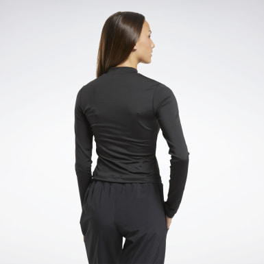 Top MYT Long Sleeve Nero Donna Fitness & Training
