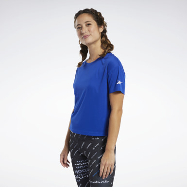Women Yoga Blue Logo Tee