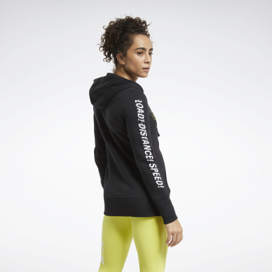 Women Training Black CrossFit® Forging Elite Fitness Hoodie