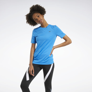 Camiseta Workout Ready Supremium Azul Mulher Fitness & Training