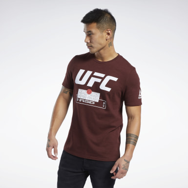Remera UFC FG Fight Week Marrón Hombre Artes Marciales Mixtas
