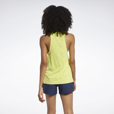Women Fitness & Training Yellow United By Fitness Perforated Tank Top