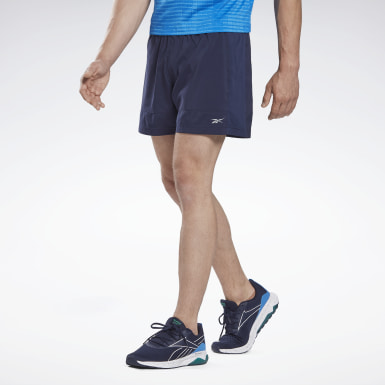 Men Hiking Blue Running Essentials Two-in-One Shorts