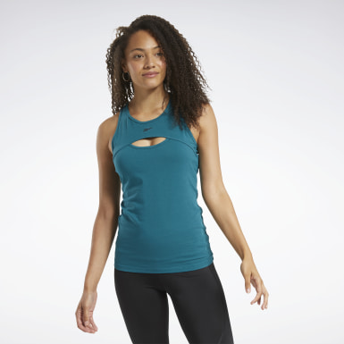 Women Pilates Turquoise Meet You There Tank Top