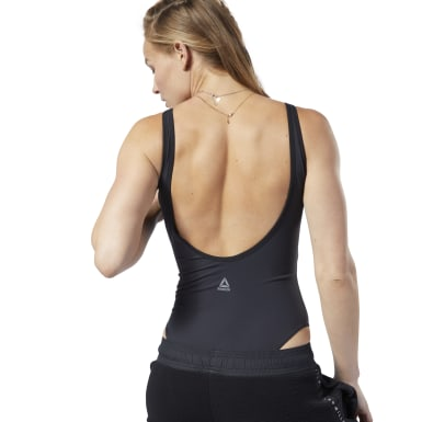 Women Studio Black LES MILLS® Bodysuit