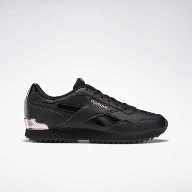 Kvinder Classics Black Reebok Royal Glide Ripple Clip Shoes