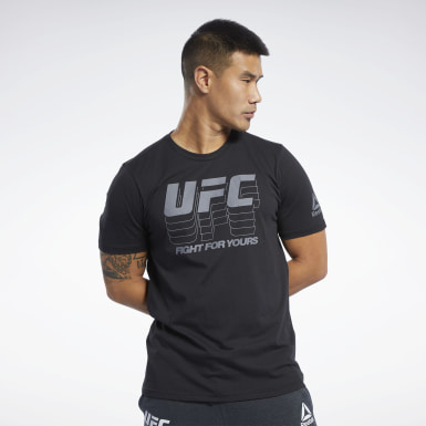 Men Fitness & Training Black UFC Fan Gear Logo T-Shirt