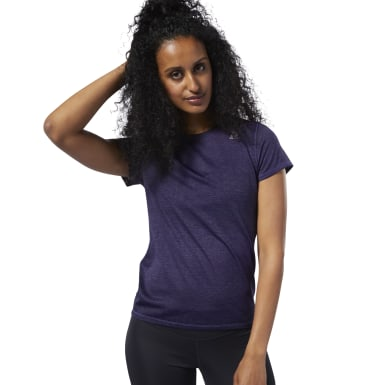 Women Running Purple One Series Running Knit Tee