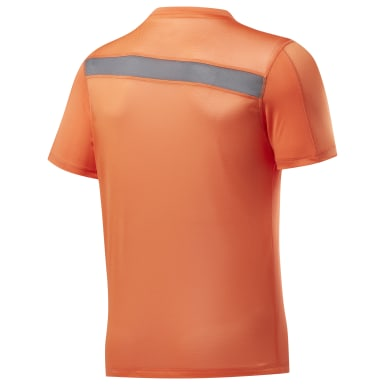 Men Training Orange Workout Ready Tech Tee