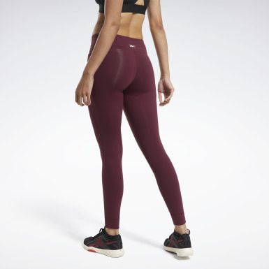 Women Training Burgundy Reebok Lux 2 Leggings