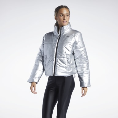 Women Outdoor Silver STUDIO Puffer Jacket