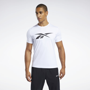 Men Yoga White Workout Ready Graphic T-Shirt