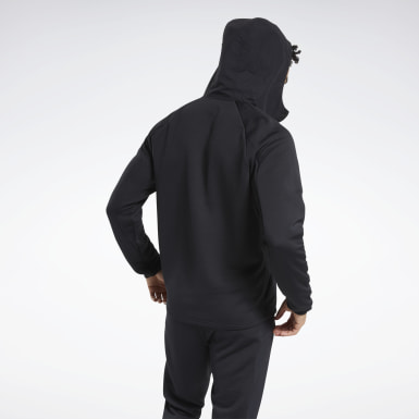 Men Hiking Black Speedwick Performance Full-Zip Hoodie