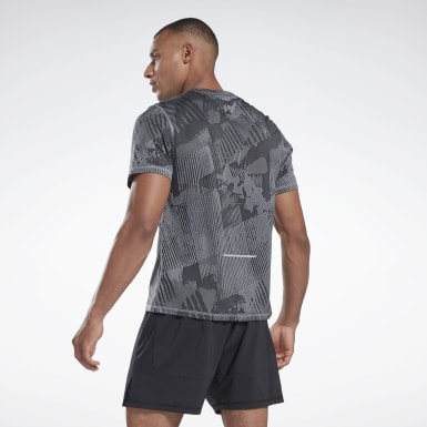 Polera One Series Running Jacquard Gris Hombre Running