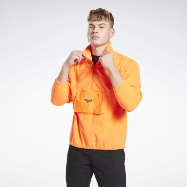 Classics Orange Half-Zip Sweatshirt