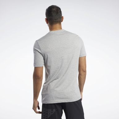 Men Training Grey Graphic Series Be More Human Crew Tee