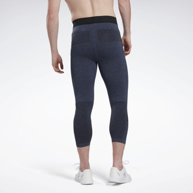 Heren Wandelsport Blauw United by Fitness MyoKnit 3/4 Legging