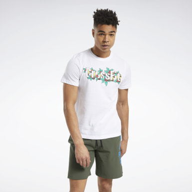 Men Training White Reebok CrossFit® Holiday Tee