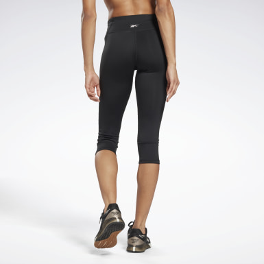 Women Fitness & Training Black Workout Ready Pant Program Capri Tights