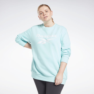 Women Training Reebok Identity Logo French Terry Crew Sweatshirt (Plus Size)